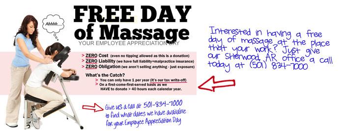 Sherwood AR Chiropractor Free Massage